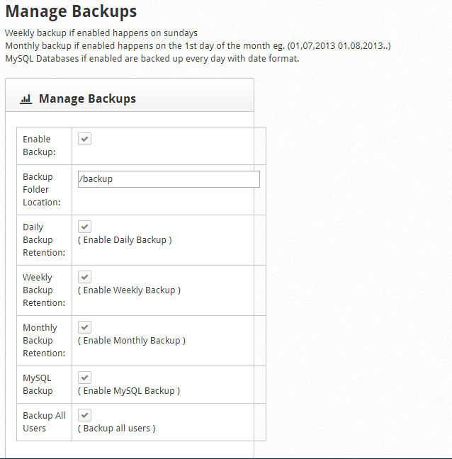 CWP Backup